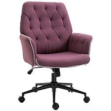 Solstice Cassini Linen Mid Back Office Chair - Purple