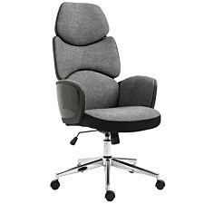Solstice Voyager Linen Office Chair - Grey/ Black