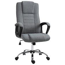 Solstice Hush Linen Office Chair - Dark Grey