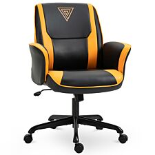 Equinox Scheme PU Leather Mid Back Gaming Chair - Black/Yellow