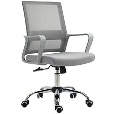 Zennor Fusion Mid Back Mesh Office Chair - Grey