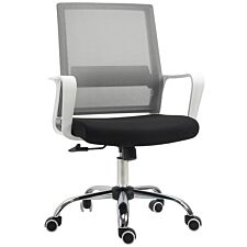 Zennor Fusion Mid Back Mesh Office Chair - White/Black/Grey