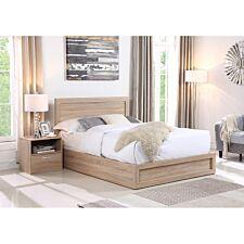 Yewtree Storage King Size Bed - Oak