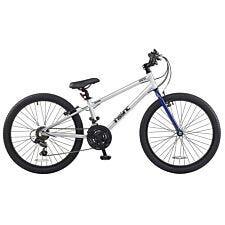 "DeNovo Orbiter 24"" Wheel Unisex Mountain Bike - Silver"