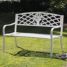 Greenhurst Coalbrookdale Garden Bench - White