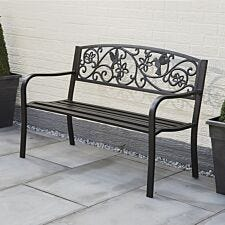 Greenhurst Hummingbird Garden Bench - Antique Bronze