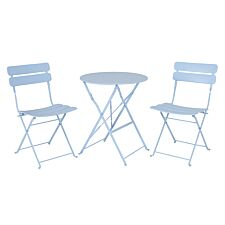 The Outdoor Living Company Colmar 2 Seater Folding Blue Bistro Set. Table H70 x Dia.60cm