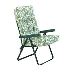 Glendale Deluxe Cotswold Leaf Recliner Chair - Green