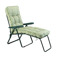 Glendale Deluxe Cotswold Stripe Lounger Chair - Green