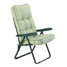 Glendale Deluxe Cotswold Stripe Recliner Chair - Green