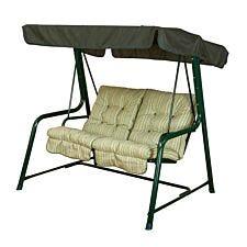 Glendale Cotswold Stripe Vienna 2 Seater Hammock Swing Seat - Green
