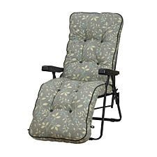 Glendale Deluxe Country Teal Relaxer Chair - Grey