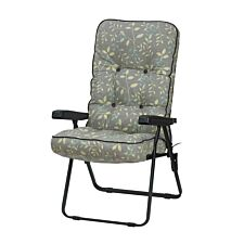 Glendale Deluxe Country Teal Recliner Chair - Grey