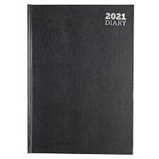 Ryman Diary 2 Days per Page A4 2021 - Black