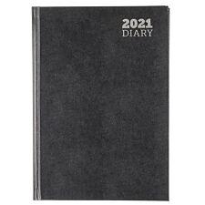 Ryman Diary 2 Days per Page A5 2021 - Black