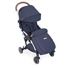 Ickle Bubba Globe Max Stroller - Denim Blue on Silver