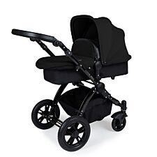 Ickle Bubba Stomp V3 2 in 1 Pushchair - Black on Black with Black Handles