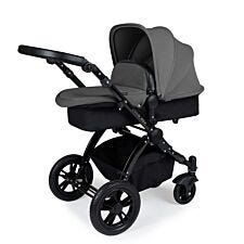 Ickle Bubba Stomp V3 2 in 1 Pushchair - Graphite Grey on Black with Black Handles