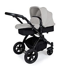 Ickle Bubba Stomp V3 2 in 1 Pushchair - Silver on Black with Black Handles