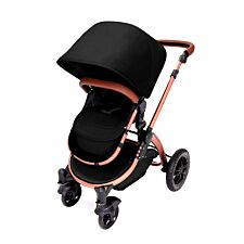 Ickle Bubba Stomp V4 2 in 1 Pushchair - Midnight on Bronze with Tan Handles
