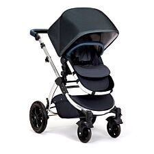 Ickle Bubba Stomp V4 All in One Travel System with Isofix Base - Blueberry on Chrome with Blueberry Handles