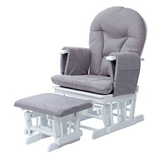Ickle Bubba Alford Glider Chair and Stool Pearl Grey