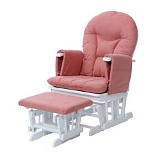 Ickle Bubba Alford Glider Chair and Stool Blush Pink
