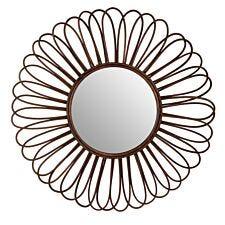Round Wall Mirror - Black Ratta