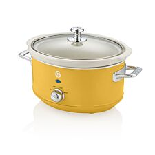 Swan SF17021YELN 3.5L Slow Cooker Retro Yellow