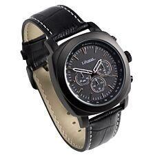 Lifemax Chonograph Style Atomic Talking Watch - Black