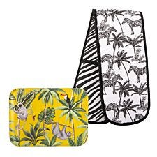 Beau & Elliot Madagascar Small Tray Sloth & Oven Glove Set