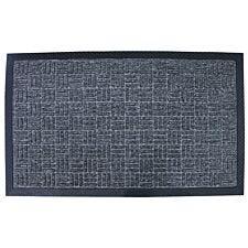 Home Essentials 45 x 75cm Tread Rubber Doormat - Grey