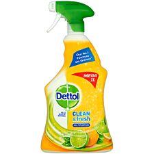 Dettol Power & Fresh 1L Antibacterial Spray - Citrus
