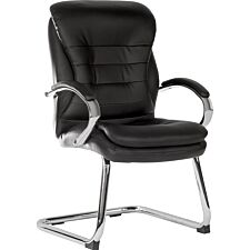 Teknik Goliath Light Visitor Black Cantilever Chair with Matching Padded Arm Rests