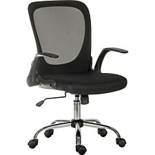 Teknik Flip Mesh Executive Chair in Black with Fold Down Backrest and Flip Up Armrests