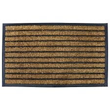 Pride of Place 45 x 75cm Coir Brush Doormat - Natural