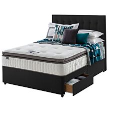 Silentnight Mirapocket Geltex 1000 2 Drawer Divan Bed - Ebony