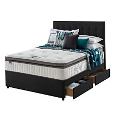 Silentnight Mirapocket 1000 Geltex 4 Drawer Divan Bed - Ebony