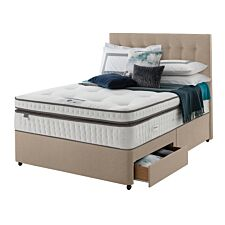 Silentnight Mirapocket Geltex 2000 2 Drawer Divan Bed - Sandstone