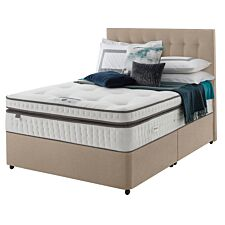 Silentnight Mirapocket Geltex 2000 Divan Bed - Sandstone
