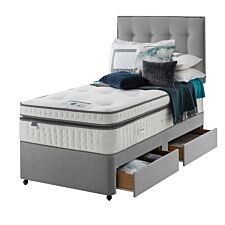 Silentnight Mirapocket Geltex 2000 2 Drawer Divan Bed - Grey