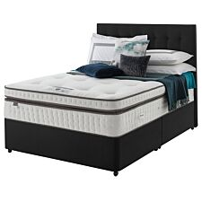 Silentnight Mirapocket Geltex 2000 Single Non Storage Divan Set Ebony