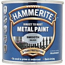 Hammerite Smooth Silver Paint 250ml