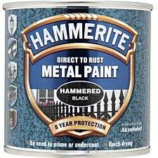 Hammerite Direct to Rust Metal Paint 250ml - Black