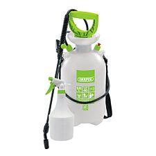 Draper Pressure Sprayer (6.25L) with Mini Sprayer (1L) - White & Green