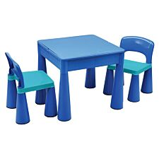Liberty House Toys Kids 5 in 1 Multipurpose Activity Table & 2 Chairs - Blue