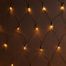 Premier Mains Operated Supabright LED Window Net Lights - Warm White