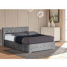 Albie Ottoman Storage Bed - Silver