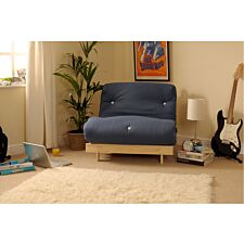 Albury Sofa Bed Set With Tufted Mattress - Navy
