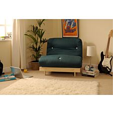 Albury Sofa Bed Set With Tufted Mattress - Dark Green
